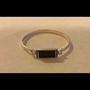 Jewelry - Silver Onyx Bracelet Marked SU Thailand 925